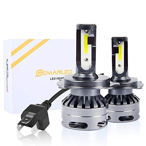 9003/H4/HB2 LED Headlight Bulbs 11,000Lm 6000K-GEMANLED 2019 Newest Extremely Bright Conversion Kit with Fan,Pack of 2