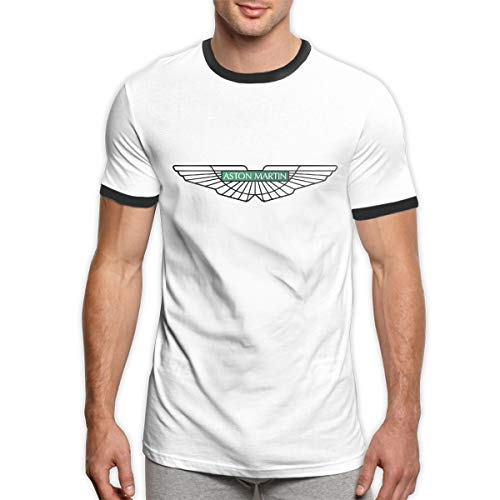TIANXIN Custom Aston Martin Car Logo Shirt O-Neck 100% Cotton for Male Black (Martin Mark Shirt)