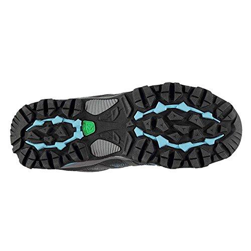 Damen Wasserdicht Full Lace bis Halterung Low Walking Schuhe Grau / Blau