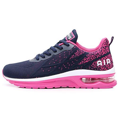 GANNOU Women's Air Athletic Running Shoes Fashion Sport Gym Jogging Tennis Fitness Sneaker Violet 8.5 B(M) US