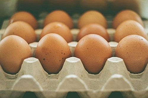 GRASS FED, NON-GMO FED FREE RANGE BROWN & COLORED CHICKEN EGGS - 2 DOZEN
