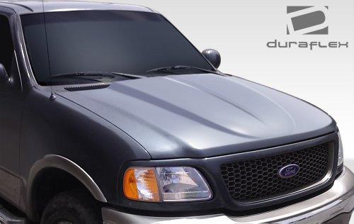 Ford Fiberglass Hood (1997-2003 Ford F-150 1997-2002 Ford Expedition 1997-1999 Ford F250 Duraflex Cowl Hood - 1 Piece)