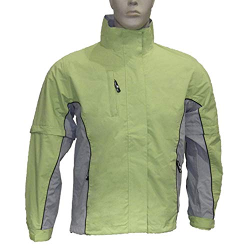 The Weather Company Ladies Microfiber Rain Jacket Green/Grey L