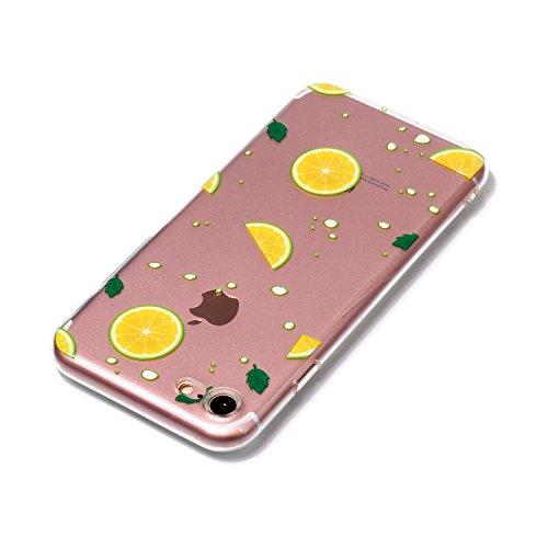 iPhone 7 Custodia , Leiai Moda Limone Silicone Morbido TPU Cover Case Custodia per Apple iPhone 7