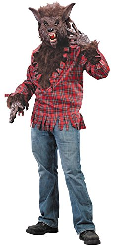 Werewolf Adult Costume (Brown) (Mens Monster Costume)