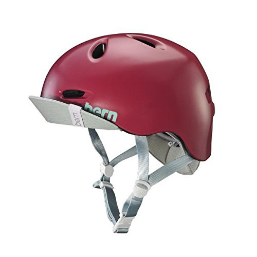 Bern Unlimited Berkeley Helmet w/ Flip Visor (Satin Cranberry, Small)