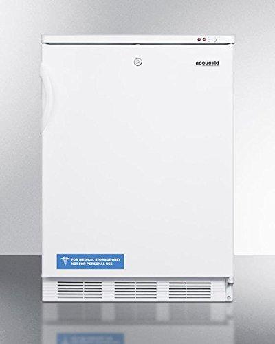 (Summit VT65ML Upright Freezer, White)