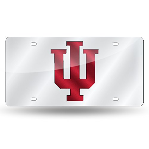 Metal Hoosiers Indiana (Rico Industries NCAA Indiana Hoosiers Laser Inlaid Metal License Plate Tag, Silver)