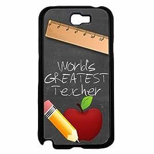 Zheng caseWorld's Greatest Teacher Plastic Phone Case Back Cover Samsung Galaxy Note II 2 N7100