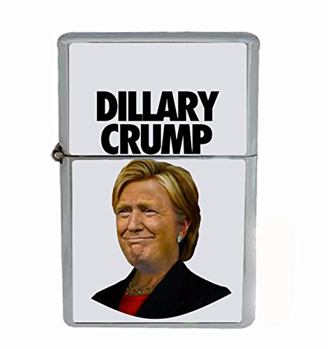 Dillary Crump Hysterical Presidential Campaign Mashup Flip Top Oil Cigarette Lighter