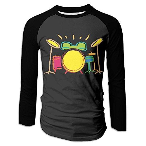 Men's Drum Set Abstract Printed Long-Sleeve (Drum Set Mens T-shirt)