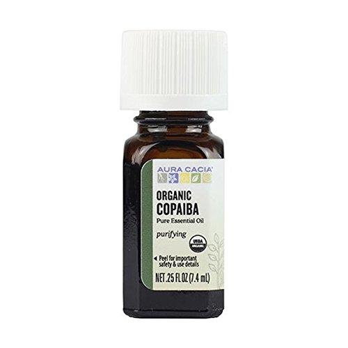 AURA CACIA ORGANIC COPAIBA ESSENTIAL OIL 0.25 FL. OZ.