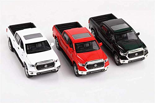 Toyota Pickup Truck 4x4 Model - Toyota Tundra,1:36 Scale Alloy Pull Back Pickup Truck Models,4 Open Door Acousto-Optic Toys (Red)