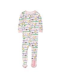 Elowel Baby Girls Footed Ballerina Pajama Sleeper 100% Cotton(Size 6M-5Years)