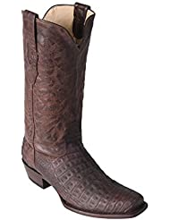 Mens 7 Toe Genuine Leather Caiman Belly Western Boots - Exotic Skin Boots