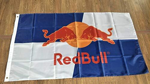 Bull Flag - Redbull Flag Red Bull Sign Banner Poster Flag 3' X 5'