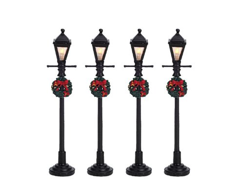 2008-gas-lantern-street-lamp-set-of-4-lighted-accessories