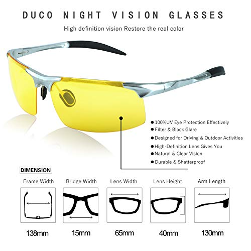 a9f01a4fd281 Duco Night-vision Glasses Polarized Night Driving Men's - Import It All