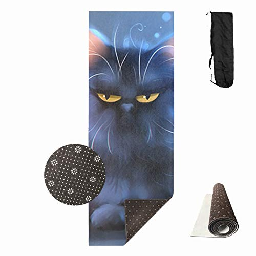 - HHNYL Spoiled Kitty Yoga Mats All-Purpose Extra Thick High Density Anti-Tear Exercise Yoga Mat with Carrying Bag