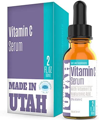 Vitamin C Serum Face and Skin Rejuvenation with Hyaluronic Acid and Vitamin E Battles Signs of Aging by Moisturizing and Boosting Antioxidant Levels for A Wrinkle-Free & Younger Skin