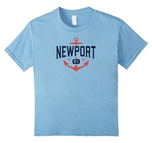 Kids Nautical Newport Rhode Island T-Shirt, RI Vacation Tee 8 Baby - Island Newport Fashion