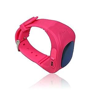 Rojo Q50 niños reloj inteligente reloj de pulsera anti-lost GPS Tracker SOS Llamada Location