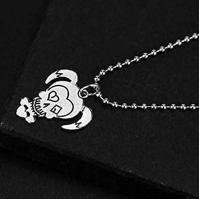 Qijavan Suicide Squad Glaze Harley Quinn Collar con Colgante de niña con Cadena de Cuentas con Caja de joyería, Collar de niña para Mujeres, niñas (Plata): Amazon.es: Joyería