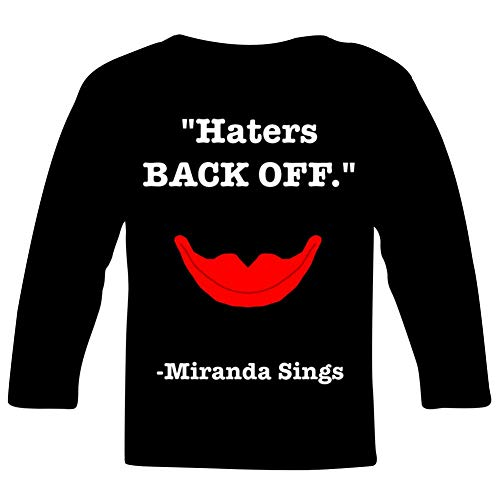 Haters Back Off Mir-an-da Sings Youth/Kid's Casual T-Shirt 3D Print Long Sleeve -
