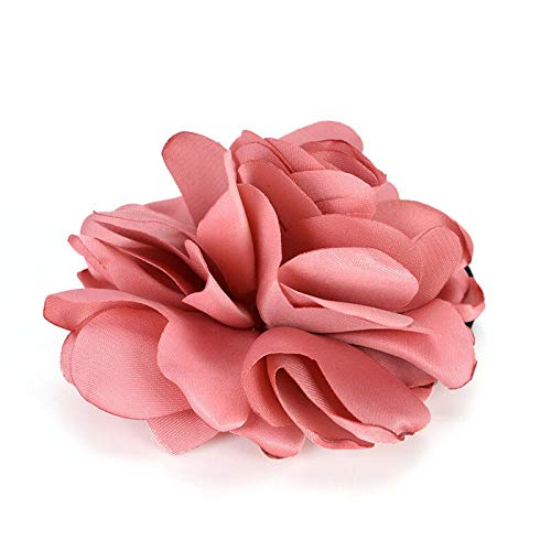 Elastics Hair Holders Rubber Bands Girls Women Rose Tie Headwear Accessory BR (Color - Pink)