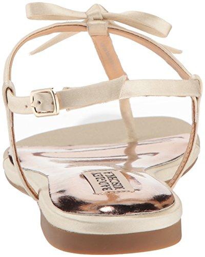 Badgley Mischka Women's Honey Flat Sandal Ivory tomHEwdAIt