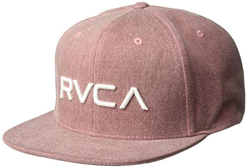 RVCA Men's Twill Snapback HAT, Rustic red, ONE Size