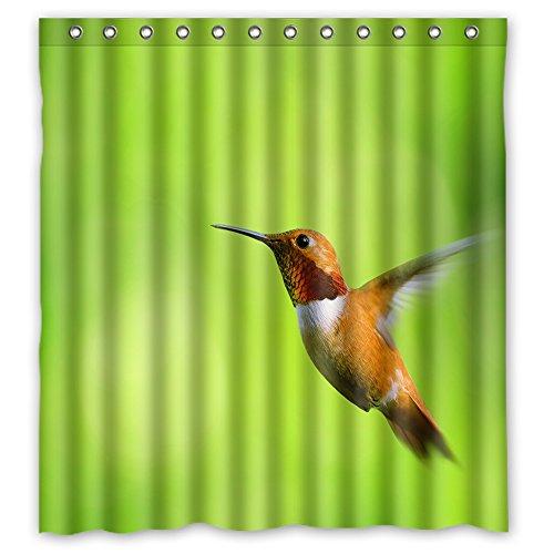 Custom Hummingbird Waterproof Durable Shower Curtain Fabr...