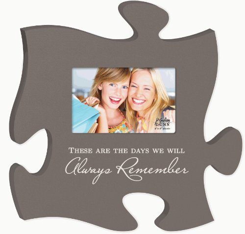 These Are The Days Puzzle Piece Hanging Picture Frame Holds 4x6 Photo - 12.0
