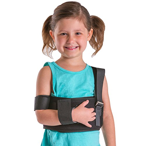BraceAbility Pediatric Shoulder Immobilizer | Child Size Arm Sling Stabilizer for Broken Collarbone & Shoulder Injuries - Fits Toddlers