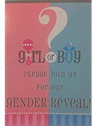 (8) Boy/Girl Gender Reveal Baby Shower Fill-In Invitations - Pink & Blue, Girl Or Boy- 8 Cards & Envelopes BOBEBE Online Baby Store From New York to Miami and Los Angeles