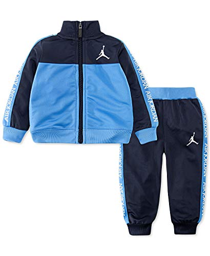 Jordan Boy`s Colorblocked Stamp Tricot Jacket & Jogger Pants Track 2 Piece Set