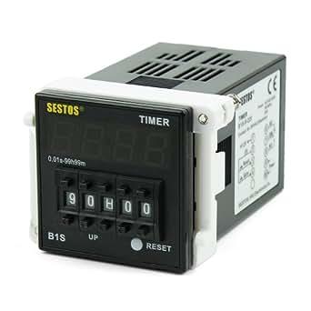 Interruptor con temporizador Digital con código Sestos salida de relé Omron CE 110-220V B1s