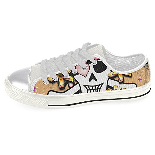 InterestPrint Shoes Women Classic Canvas for InterestPrint skull skull rSfwWrqO