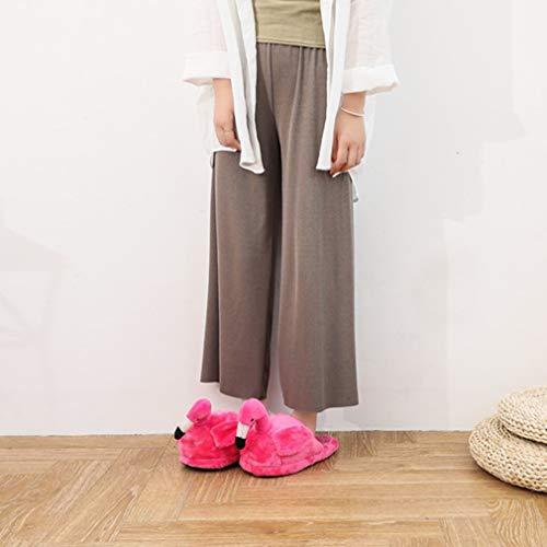 Chaussons Rouge Hongxin Femmes Smiley Nouveauté A Peluche Hiver Duveteux Face Flamant Adultes Rose Pantoufles Emoji xg0dqwrO0