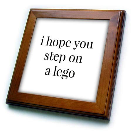 3dRose Gabriella-Quote - Image of I Hope You Step On A Lego Quote - 8x8 Framed Tile (ft_317796_1) - Hope Framed Tile