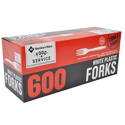 (Member's Mark White Plastic Forks (600 ct.))