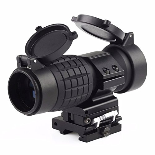 (CRUSHUNT AR15 Rifle Scope 3X Magnifier Scope with Flip up Mount Picatinny Weaver Rail)