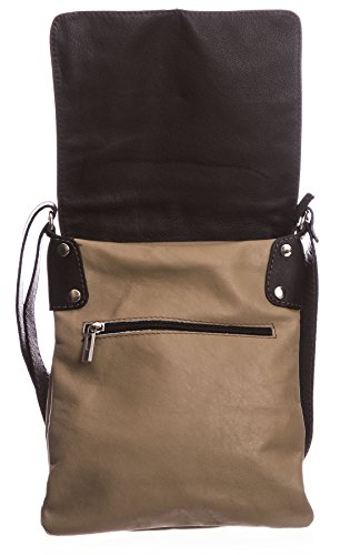 Big Cross Body Womens Real Light Messenger Handbag Bag Leather Italian Beige Soft Shoulder q4rqZYw