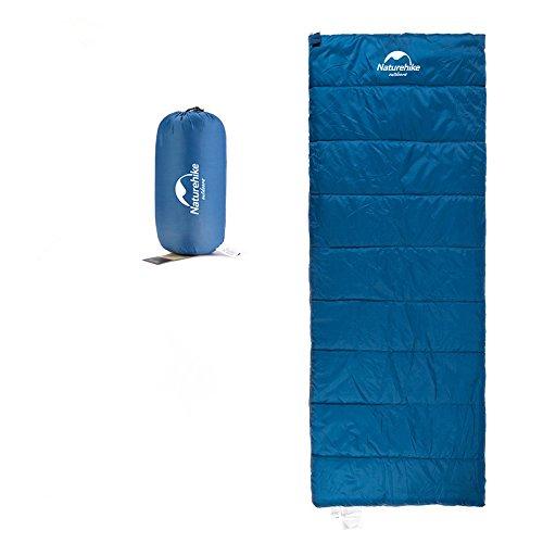 Naturehike Equipement de camping Ultralight Sac de couchage Enveloppe Sac de couchage Sac de couchage (Blue)