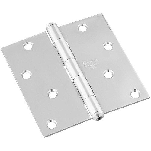 National Hardware N225-938 V514 Door Hinge in Stainless Steel (Steel Right Door Stainless Hinge)