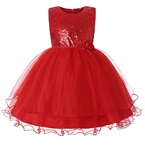 Kids Dresses for Girls Clothes Chiffon Girls Dress Wedding Birthday Party Costume for Kidss,Red1,14