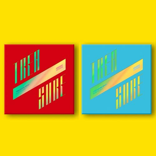 ATEEZ - TREASURE EP.3 [ILLUSION+WAVE] ONE TO ALL Album CD+Photo Booklet+Folding Poster+Photo Card+PostCard+Sticker ()