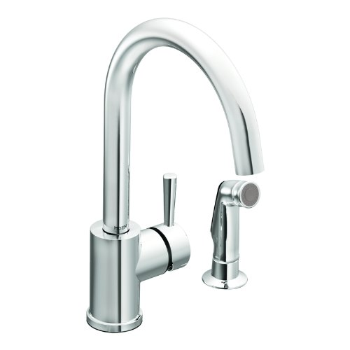 Moen 7106 Level One-Handle High Arc Kitchen Faucet, Chrome -