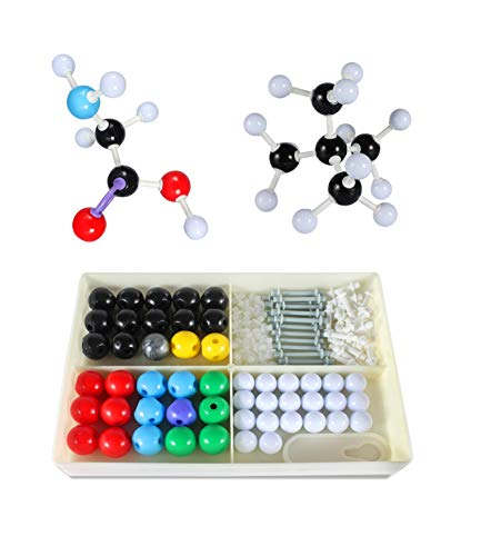 Chemical Molecular Model, Inorganic Molecular Model Kit for Students 125 Pieces(50 Aoms & 74 Links & 1 Short Link Remover Tool)