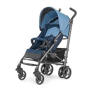 Chicco Lite Way2 - Silla de paseo ligera y compacta, 7 kg, color azul